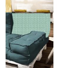 Dossier palette réversible en coton bleu 60 x 40 x 22 cm