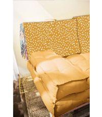 Dossier palette réversible en coton jaune 60 x 40 x 22 cm