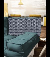 Dossier palette réversible en coton gris 60 x 40 x 22 cm
