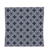 Coussin réversible en coton gris 38 x 38 cm