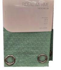 Rideau en coton bleu 140 x 240 cm