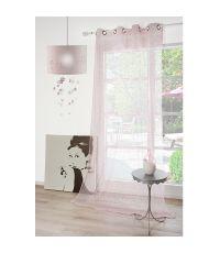 Rideau voilage Princesse 140x260 rose layette - FENETRE SUR COUR