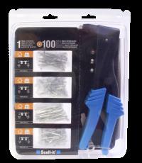 Pince à riveter réglable + 100 rivets - SCELL IT