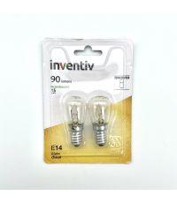 2 ampoules frigo E27 90lm 2800 Kelvins dimmable - INVENTIV