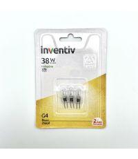 3 ampoules halogènes G4 375lm 2900 Kelvins dimmable - INVENTIV