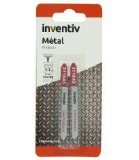 2 lames scie sauteuse T métal-chantournage CP1-3mm - INVENTIV