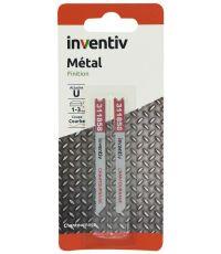 2 lames scie sauteuse U métal chantournage CP1-3mm - INVENTIV