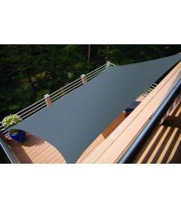 Voile ombrage rectangulaire Primo 2x1,4m Ardoise - INVENTIV