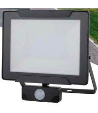 Projecteur extérieur LED détection Héra 50W 3500lm noir - INVENTIV