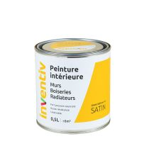 Peinture Murs Boiseries Radiateurs satin 0,5L jaune safran 4 - INVENTIV