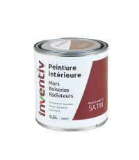 Peinture Murs Boiseries Radiateurs satin 0,5L rouge grenat 2 - INVENTIV