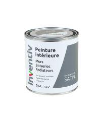 Peinture Murs Boiseries Radiateurs satin 0,5L gris graphite 2 - INVENTIV