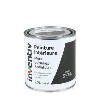 Peinture Murs Boiseries Radiateurs satin 0,5L noir gf1 - INVENTIV