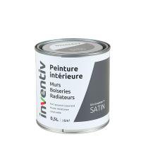 Peinture Murs Boiseries Radiateurs satin 0,5L gris graphite 1 - INVENTIV