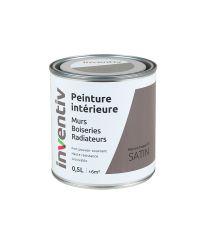 Peinture Murs Boiseries Radiateurs satin 0,5L Marron taupe 3 - INVENTIV