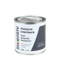 Peinture Murs Boiseries Radiateurs satin 0,5L gris hiver 2 - INVENTIV