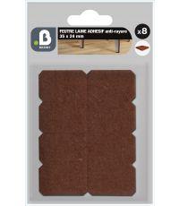Patin feutre laine marron 35X24 - 3M