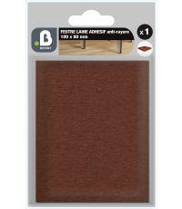 Patin feutre laine marron 100x80
