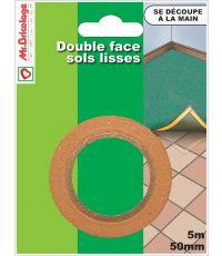 Adhésif moquette double face sols lisses 5mx50mm