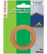 Adhésif moquette double face sols irréguliers 5mx50mm - B RESIST