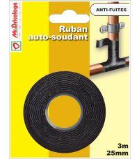 Ruban auto soudant / Etancheite,chauffage, ventilation 3Mx25mm Noir