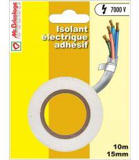 Adhésifs électrique isolant blanc 10mx15mm - B RESIST