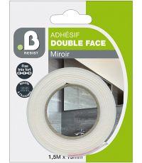 Mousse Adhésif moquette double face miroir 1,5x19