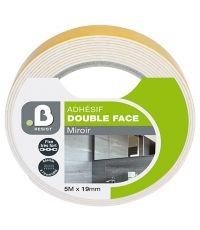 Mousse Adhésif moquette double face miroir 5x19