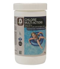 Traitement piscine Chlore multi-action galet de 250g en 1kg - B HOME
