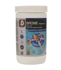 Traitement piscine Brome permanent en pastilles de 20 g - B HOME