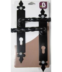 Poignees de porte noely noir col long cylindre - B BEAUTY