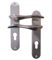 Poignée Porte à Cylindre Omer Aluminium Entraxe 195mm- B BEAUTY