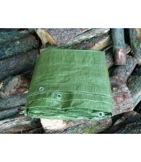 Bâche de protection verte pour stère bois 2x8m