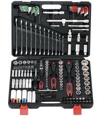 Mallette outils de serrage 160 pièces douilles/clés/embouts - ELVETIS