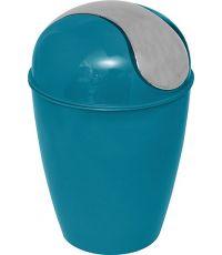 Poubelle pp conique avec couvercle 5,6l - bleu canard - TENDANCE
