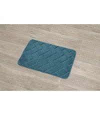 Tapis polyester relief briques 40x60cm - bleu canard - TENDANCE