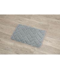 Tapis polyester relief briques 40x60cm - gris - TENDANCE