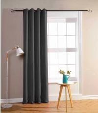 Rideau à œillets obscurcissant gris 135 x 250 cm