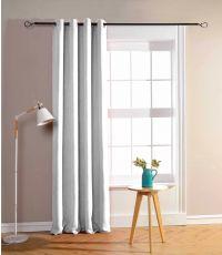 Rideau à œillets obscurcissant blanc 135 x 180 cm