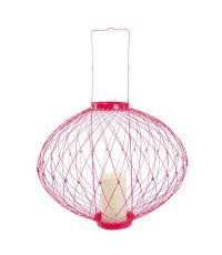 Photophore rouge LED rétractable modulable en 3 positions Ø 12 x 57,2 cm