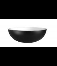 Vasque à poser ronde en résine PUR noir mat ∅36cm - BALNEO
