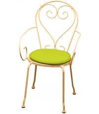Galette chaise ronde diamètre 38cmx3cm Vert Anis