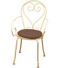 Galette chaise ronde diamètre 38cmx3cm Taupe