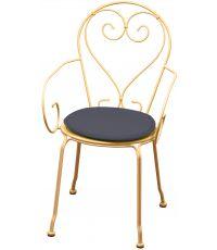 Galette chaise ronde diamètre 38cmx3cm Gris Anthracite