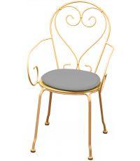 Galette chaise ronde diamètre 38cmx3cm Gris Clair