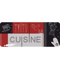 Tapis de cuisine cuisine noir rouge - 120 x 50