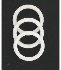 Lot de 10 anneaux blancs