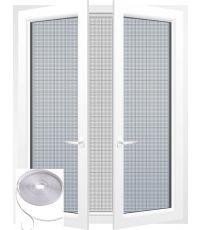 Kit moustiquaire 130 x 150 cm et bande de fixation 5,6 m x 0,7 cm - blanc