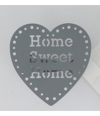 Lot de 2 pinces métal  Home sweet Home - gris fonce