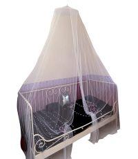 Ciel de lit moustiquaire - 1 personne diam 40 cm hauteur 2,30 m  - blanc